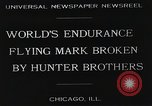 Image of Attempt to set new airborne endurance record Northbrook Illinois United States USA, 1930, second 5 stock footage video 65675059964