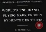 Image of Attempt to set new airborne endurance record Northbrook Illinois United States USA, 1930, second 6 stock footage video 65675059964