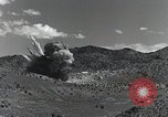 Image of bomb and rocket explosions Utah Dugway Proving Ground USA, 1945, second 8 stock footage video 65675059997