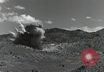 Image of bomb and rocket explosions Utah Dugway Proving Ground USA, 1945, second 9 stock footage video 65675059997