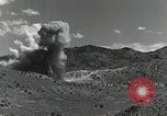 Image of bomb and rocket explosions Utah Dugway Proving Ground USA, 1945, second 12 stock footage video 65675059997