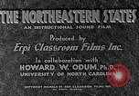 Image of animated map of Northeastern region United States USA, 1942, second 11 stock footage video 65675060048