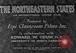 Image of animated map of Northeastern region United States USA, 1942, second 12 stock footage video 65675060048