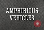 Image of various types of amphibious craft United States USA, 1953, second 3 stock footage video 65675060072