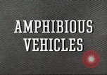 Image of various types of amphibious craft United States USA, 1953, second 5 stock footage video 65675060072