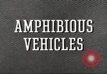 Image of various types of amphibious craft United States USA, 1953, second 11 stock footage video 65675060072
