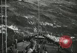 Image of Allied vessels in convoy Atlantic Ocean, 1944, second 6 stock footage video 65675060092