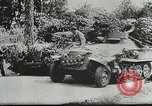 Image of U.S. and German forces converge in battle after Normandy invasion Mortain France, 1944, second 11 stock footage video 65675060104