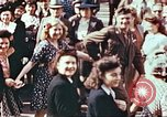 Image of crowd of Parisians Paris France, 1945, second 9 stock footage video 65675060142