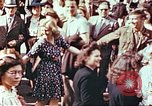 Image of crowd of Parisians Paris France, 1945, second 10 stock footage video 65675060142