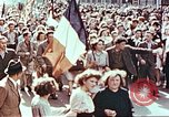 Image of crowd of Parisians Paris France, 1945, second 11 stock footage video 65675060142