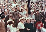 Image of crowd of Parisians Paris France, 1945, second 12 stock footage video 65675060142