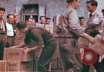 Image of Liberated American airmen and Red Cross aid at Stalag 7A prison camp Moosburg Germany, 1945, second 12 stock footage video 65675060145