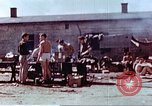 Image of Former American airmen prisoners of war at Stalag 7A prison camp Moosburg Germany, 1945, second 4 stock footage video 65675060146
