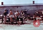 Image of Former American airmen prisoners of war at Stalag 7A prison camp Moosburg Germany, 1945, second 6 stock footage video 65675060146