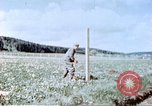 Image of German prisoners of war building a barbed wire enclosure Germany, 1945, second 10 stock footage video 65675060149