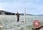 Image of German prisoners of war building a barbed wire enclosure Germany, 1945, second 12 stock footage video 65675060149