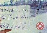 Image of 1st Infantry Division soldiers Vietnam, 1968, second 6 stock footage video 65675060283