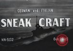 Image of German and Italian sneak craft boats and swimmers Europe, 1945, second 12 stock footage video 65675060338