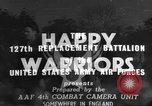 Image of 127th Replacement Battalion activities England, 1944, second 10 stock footage video 65675060358