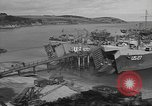 Image of U.S. Army Vehicles being loaded on LSTs before D-Day Falmouth England, 1944, second 9 stock footage video 65675060406