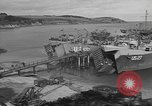 Image of U.S. Army Vehicles being loaded on LSTs before D-Day Falmouth England, 1944, second 11 stock footage video 65675060406