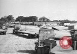 Image of Waco CG-4 gliders being assembled prior to D-Day England, 1944, second 2 stock footage video 65675060409