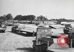 Image of Waco CG-4 gliders being assembled prior to D-Day England, 1944, second 3 stock footage video 65675060409