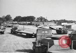 Image of Waco CG-4 gliders being assembled prior to D-Day England, 1944, second 5 stock footage video 65675060409