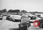 Image of Waco CG-4 gliders being assembled prior to D-Day England, 1944, second 6 stock footage video 65675060409