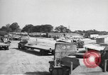 Image of Waco CG-4 gliders being assembled prior to D-Day England, 1944, second 8 stock footage video 65675060409