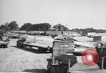Image of Waco CG-4 gliders being assembled prior to D-Day England, 1944, second 10 stock footage video 65675060409