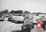 Image of Waco CG-4 gliders being assembled prior to D-Day England, 1944, second 12 stock footage video 65675060409