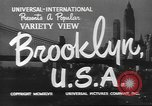 Image of City scenes including bridges, buildings, streets and traffic Brooklyn New York USA, 1947, second 9 stock footage video 65675060412