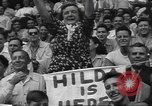 Image of Fans at Ebbets Field Brooklyn Dodgers baseball game Brooklyn New York USA, 1947, second 10 stock footage video 65675060417