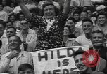 Image of Fans at Ebbets Field Brooklyn Dodgers baseball game Brooklyn New York USA, 1947, second 11 stock footage video 65675060417