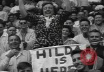 Image of Fans at Ebbets Field Brooklyn Dodgers baseball game Brooklyn New York USA, 1947, second 12 stock footage video 65675060417