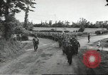 Image of German prisoners of war taken in Allied invasion Normandy France, 1944, second 1 stock footage video 65675060420
