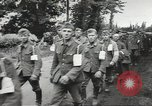 Image of German prisoners of war taken in Allied invasion Normandy France, 1944, second 7 stock footage video 65675060420