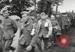 Image of German prisoners of war taken in Allied invasion Normandy France, 1944, second 8 stock footage video 65675060420