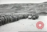 Image of Ceremony at the first US military cemetery at Omaha Beach Normandy France, 1944, second 1 stock footage video 65675060423