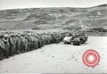 Image of Ceremony at the first US military cemetery at Omaha Beach Normandy France, 1944, second 4 stock footage video 65675060423