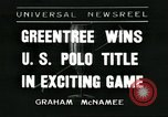 Image of Polo player Jock Whitney New York United States USA, 1935, second 1 stock footage video 65675060557