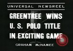 Image of Polo player Jock Whitney New York United States USA, 1935, second 4 stock footage video 65675060557
