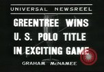 Image of Polo player Jock Whitney New York United States USA, 1935, second 5 stock footage video 65675060557