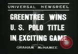 Image of Polo player Jock Whitney New York United States USA, 1935, second 6 stock footage video 65675060557