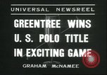 Image of Polo player Jock Whitney New York United States USA, 1935, second 7 stock footage video 65675060557