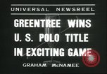 Image of Polo player Jock Whitney New York United States USA, 1935, second 8 stock footage video 65675060557