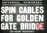 Image of cables for Golden Gate Bridge San Francisco California USA, 1935, second 6 stock footage video 65675060564