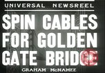 Image of cables for Golden Gate Bridge San Francisco California USA, 1935, second 7 stock footage video 65675060564